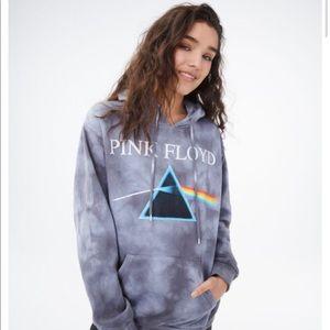 New Pink Floyd Tie Dye Oversized Pullover Hoodie